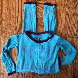 Kickee frosted birch romper